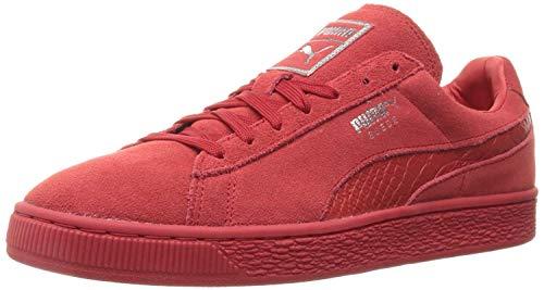 PUMA - Scarpe da ginnastica da uomo Select Suede Classic Plus, Nero (Rosso ad alto rischio.), 4