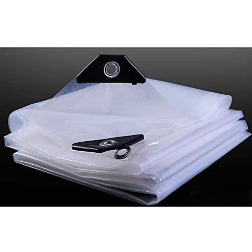 Mirui Transparente Abdeckung Tarp Persenning Blatt Wasserdicht Boden-Blatt-Abdeckung PE Klar warm halten Balkon Garten (Size : 5x5m)