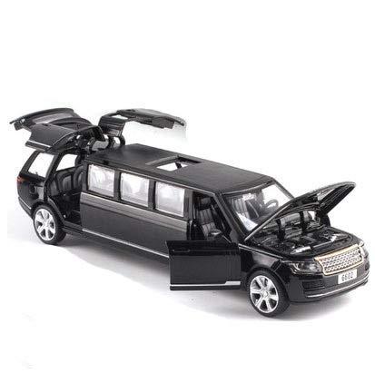 YEEWEN Toy Cars Vehículos Tire Alargado 01:32 DIECAST automóvil de Modelo de Juguetes de una Limusina con LA Parte Posterior DE Sonido LUZ Juguetes for niños (Color : A)