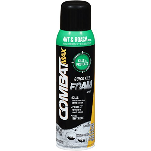 Combat Max Ant and Roach Killer Quick Kill Foam Spray, 17.5 Ounce