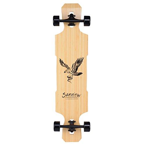 SANVIEW 42inch Complete Bamboo Longboard Skateboards Cruiser Eagle