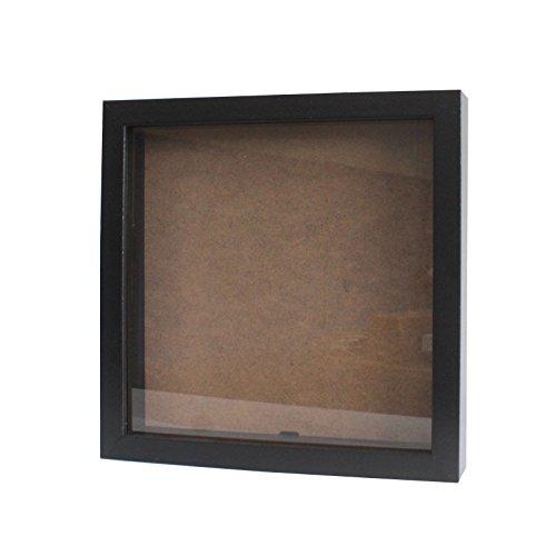 Tiefer Bilderrahmen von greepic 25x25cm in vielen Größen und Farben zum befüllen DIY Holz mit Glas Frame Box Objektrahmen Räumlichkeitseffekt