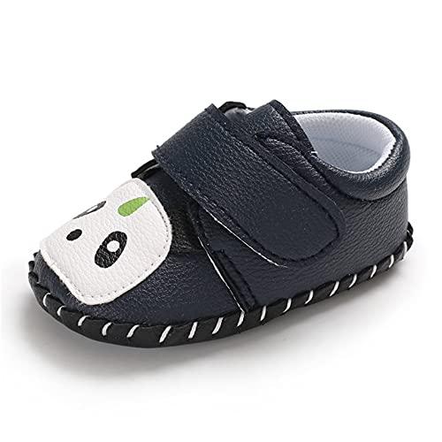 Zapatos para niños pequeños, zapatos para aprender a andar, zapatos de bebé, antideslizantes, panda, zapatos transpirables, para ocio, suelos, suaves, zapatos para bebé, Negro , 22
