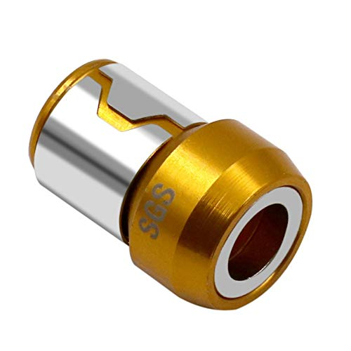 SIMNO JIAHONG Taladro Plano de Destornillador de aleación magnética de corrosión Fuerte Bucle electromagnético Destornillador Magnetizador bits de Cruz (Color : Yellow)