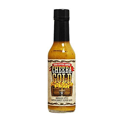 High River Sauces Cheeba Gold Barbados Style Scotch Bonnet Pepper Sauce Single