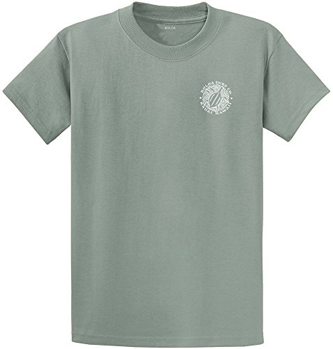 Koloa Surf.-2 Side Honu Hawaiian Turtle T-Shirt-StoneGreen/w-M
