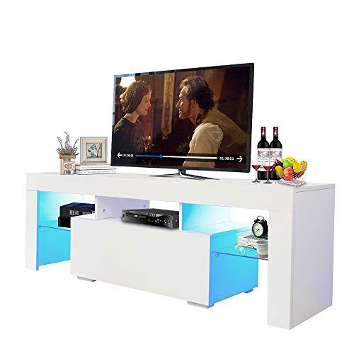 Fohufo TV Entertainment Center Bracket, LED TV Cabinet 40/45/55 inch TV Living Room Entertainment Center Media Console Table