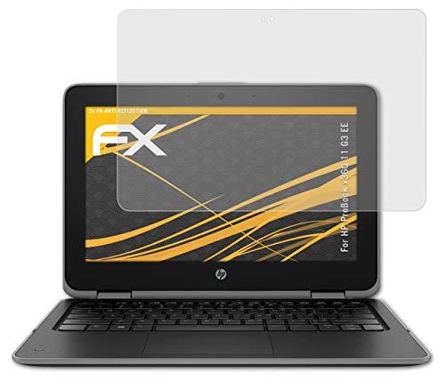 atFolix Panzerfolie kompatibel mit HP ProBook x360 11 G3 EE Schutzfolie, entspiegelnde & stoßdämpfende FX Folie (2X)