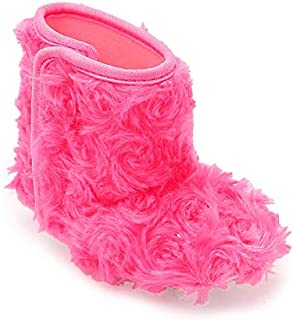 CHIU Fur Pink Baby Infant Soft Booties for 0-6 Month's and 6-12 Month's