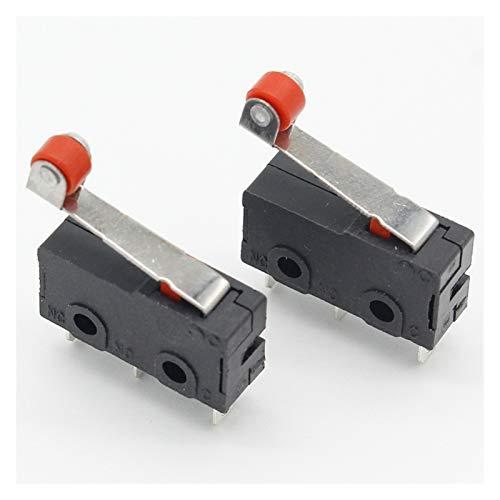 QHMDZ Interruptores de limitación 10 Piezas de Mini Límite Micro Interruptor de Rodillo del Brazo de Palanca SPDT de acción rápida Lot