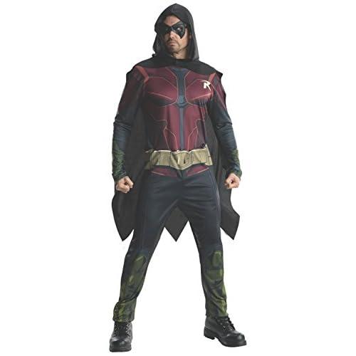 Rubie's - Costume da uomo, da Robin DC Arkham City, taglia L, petto 106-111 cm, vita: 86-91 cm, cavallo 83 cm