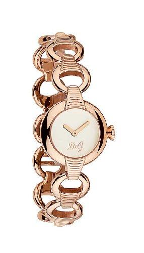 D&G Dolce&Gabbana DW0344 - Reloj analógico de mujer de cuarzo con correa de acero inoxidable rosa - sumergible a 30 metros