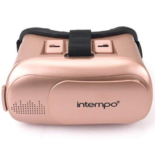 Intempo 3D Virtual Reality Headset with Earbuds Grey/Black/Gold New (Gold)