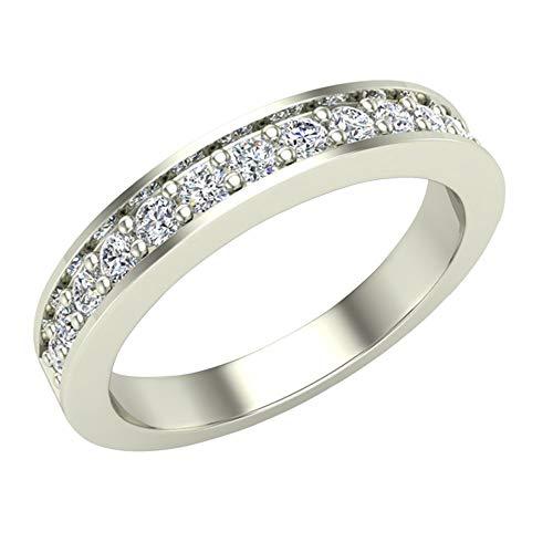 Glitz Design Mujer Niños Hombre Unisex Platino 950 platino redonda Diamond