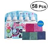 Ultnice Kit di coloranti per tessuti, composto da 58 pezzi, 40 elastici e 8 guanti usa e g...