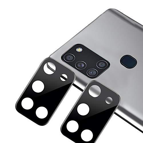 xinyunew Geeignet für Samsung Galaxy A71 Kamera Panzerglas Schutzfolie 2 PCS Objektiv Folie Len Protector Kamera Schutzglas Rückseite Camera Glasfolie 9H Festigkeit Zubehör Wasserdicht - Schwarz