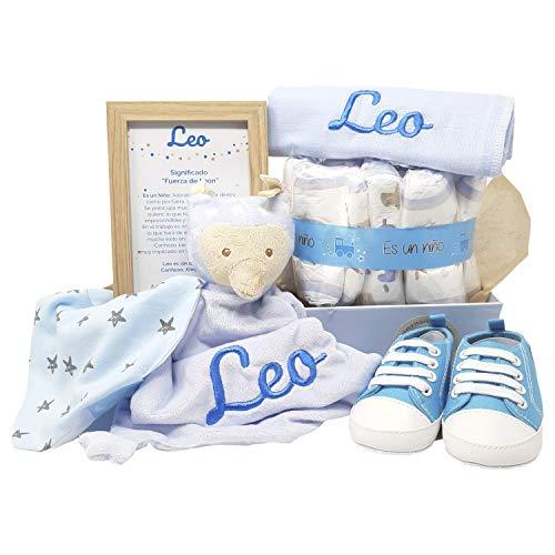 MabyBox Sneakers | Canastilla de Bebe | Regalo original Recien Nacido | Cesta de Bebe Personalizada | Regalos bebé (azul,...
