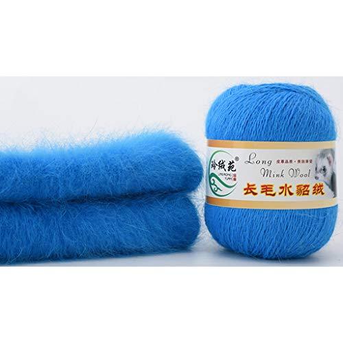 50 gramos por persona lana de visón suave hecha a mano de lujo de lana de cachemira de punto de...
