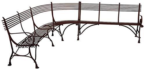 Casa Padrino Jugendstil Gartenbank 210 x 250 cm Handgefertigte Schmiedeeisen Bank - Eckbank - Gartenmöbel, Farbe:weiß