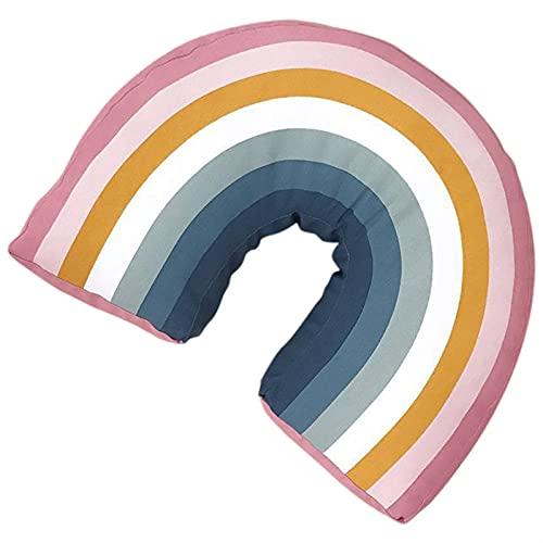 aolongwl Almohada para el Cuello en Forma de U Rainbow Forma de U Forma Niños Almohada Decorativo Cuello Cuello Almohada Cojín Lindo Bebé Almohadas Dormir Juguetes Relleno Muñecas Regalo Cumpleaños