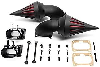 Krator® Suzuki Boulevard M109 Cruiser High Quality Black Billet Aluminum Cone Spike Air Cleaner Kit Intake Filter Motorcycle