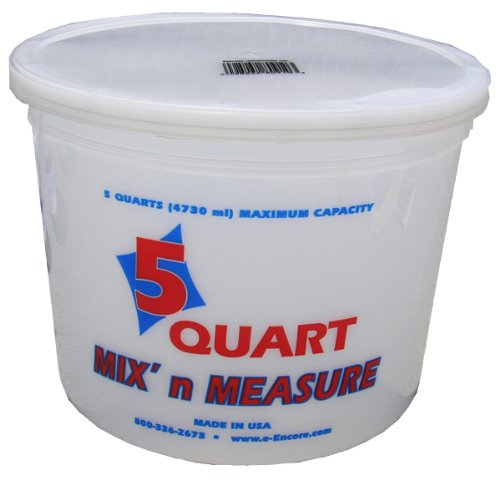 Encore Plastics 81166 Mix'N Measure Container, 5-Quart