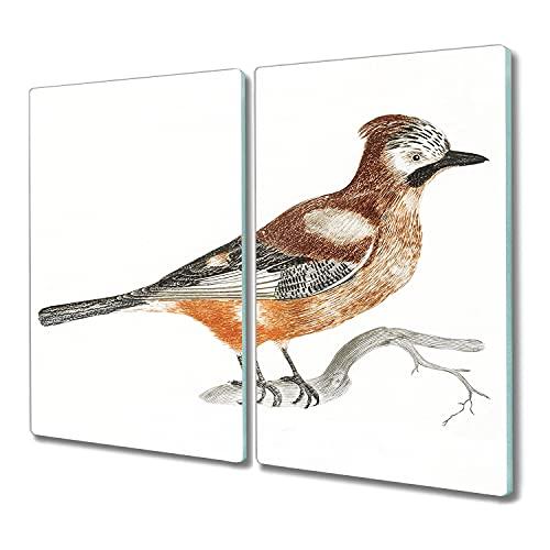 Coloray protector induccion 2x30x52 tabla de cortar madera para cortar tablero de vidrio para la cocina Vidrio Placa de tabla - rama animal