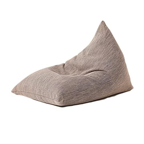 Pufa z wysokim oparciem dla dzieci, Wewnątrz lub na zewnątrz Fotel dla dzieci Lazy Lounger Fotel worek fasoli Gigantyczna poduszka podłogowa Wypoczynek Tatami,Brown