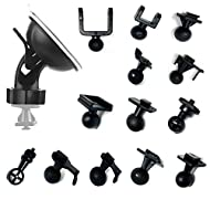 Car dashboard/windshield rotating mount holder for car DVR GPS Camcorder holder. Swivel ball adapter head provides flexibility for positioning the camera. Different joints kit to suit most Car Dash Camera, GPS, Action Camera. Attaching to a clean and...