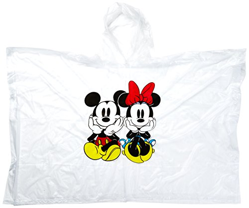 Disney 2-Pack Mickey & Minnie Mouse Sitting Vinyl Rain Ponchos (Youth)