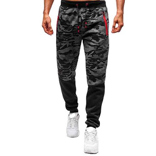 Elastic Waist Stitching Camouflage Jogginghose für Herren Fashion All-Match Streetwear Outdoor Fitness Freizeithose XL