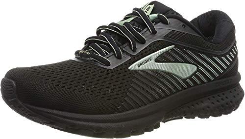 Brooks Women's Ghost 12 GTX Running Shoes, Black (Black/Ebony/Aqua 010), 5 UK