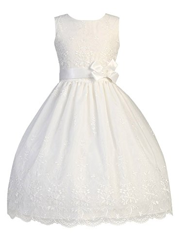 Swea Pea & Lilli First Communion Dresses for Girls Organza Available in Girls 7-16 and Plus Size in White (Size 8X)