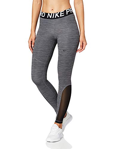 NIKE W NP Tight Sport Trousers, Mujer, Black/Htr/Black/Black, S