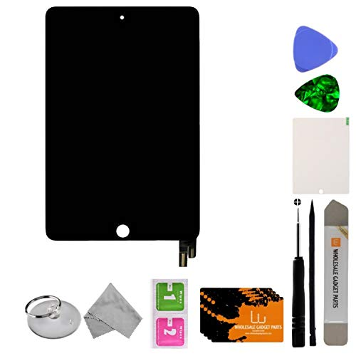 Wholesale Gadget Parts LCD & Digitizer Assembly (with Sleep & Wake Sensor Flex Cable) for Apple iPad Mini 4 (Black) with Tool Kit