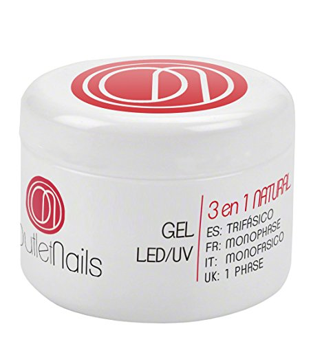 UV Gel Trifasico Natural 15ml para uñas de gel - Viscosidad
