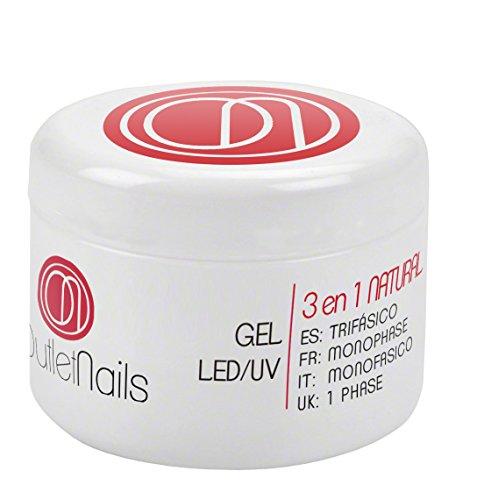 UV Gel Trifasico Natural 30ml para uñas de gel - UV/LED Gel 3 en 1 Rosa de Outlet Nails - Viscosidad Media
