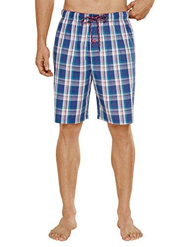 Uncover by Schiesser Uncover Woven Bermuda Bas de Pyjama, Bleu-Bleu foncé (803), Large Homme