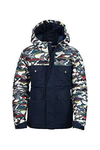 Arctix Boys Slalom Insulated Winter Jacket, White Multi Camo, Medium