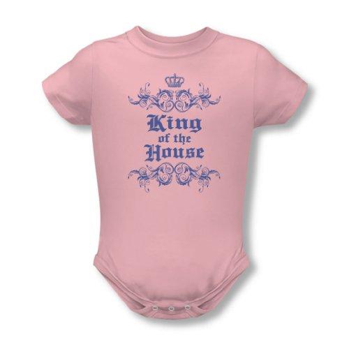 King Of The House - Onesie En Rose, 6 Months, Pink