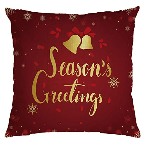 Vovotrade Kerstmis kussensloop rood kerstman Merry Christmas goud alfabet elegante kussenhoes kussenslopen sierkussensloop bank slaapkamer woonkamer kantoor auto