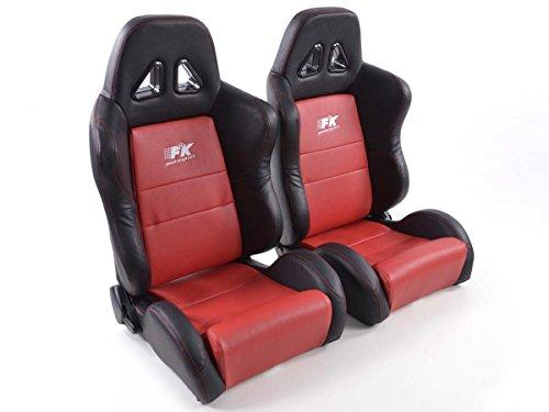 FK Automotive FK Sportsitz Autositz Halbschalensitz Set Dallas Rennsitz Motorsport-Optik FKRSE010109