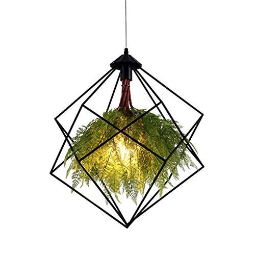 XXCC smeedijzeren hanglampen groene plant restaurant led verlichting kroonluchter bruiloft Aisle E27 lamp houder decoratieve creatieve koffiebar hangende lampen