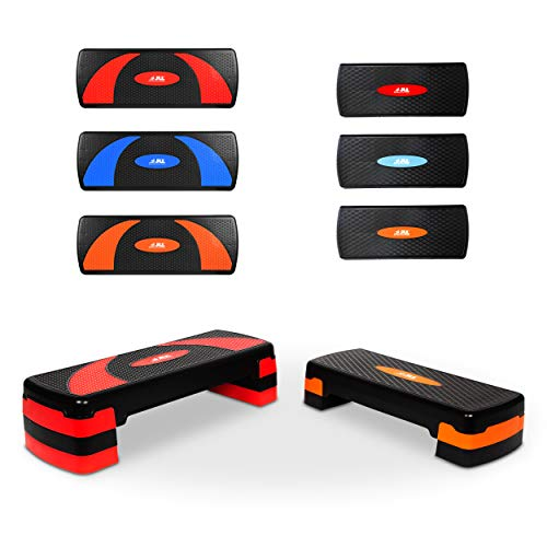 JLL Aerobic Exercise Stepper with 2 Adjustable Step Levels - (Orange) Great...