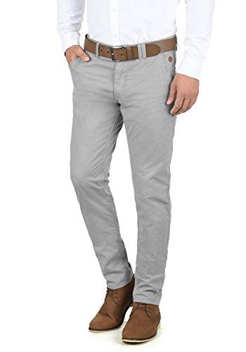 Blend Tromp Herren Chino Hose Stoffhose Aus 100% Baumwolle Regular Fit, Größe:W36/32, Farbe:Aluminium (70107)