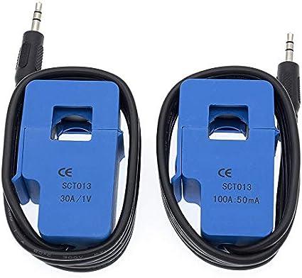 Color : 100A HAYQ 30A 50A 100A SCT-013-030 SCT-013-050 SCT-013-000 Non-invasive AC Current Sensor Split Core Current Transformer