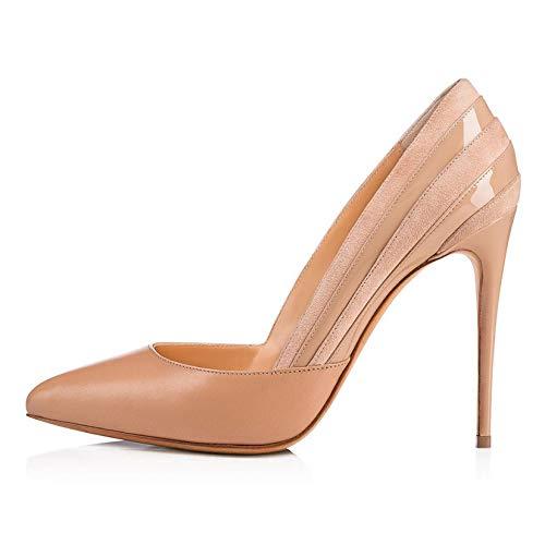 LLUVIAXHAN Tacones Altos Sin Cordones con Punta Puntiaguda para Mujer, Zapatos De...