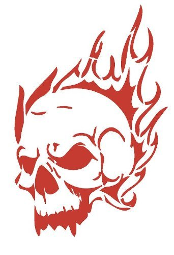Skull Of Flames Airbrush, Wandkunst, aus Mylar, Schablone, wiederverwendbar, 125µm