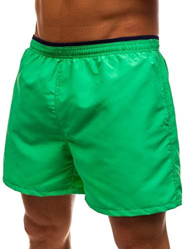 BOLF Hombre Pantalón Corto de Baño Bañadores Pantalones Deportivos Ropa de Baño Slips de Natación Estilo Deportivo Red Fireball Y768 Verde XXL [7G7]