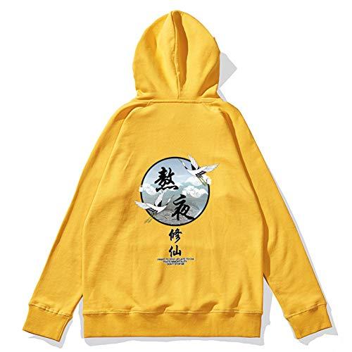 NING456 Männer Und Frauen Persönlichkeit Chinese Style Hoodie Drop Schulterärmel Lose Baumwolle Casual Große Größe Paar Jacke Streetwear